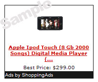 Sample Ad from ShoppingAds
