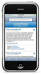 WordPress on Apple's iPhone