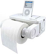 iCarta iPod Toilet Roll Dispenser
