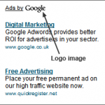 Google Testing Logo in AdSense Ads